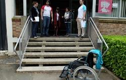 Test de l'escalier du bâtiment SUAPS