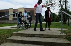 Recherche d'une alternative pour accéder au gymnase