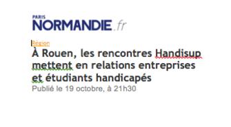 A Rouen, les rencontres Handisup mettent en relations entreprises et étudiants handicapés